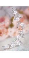 DEMETRA Crystal Flower Bridal Hair Piece
