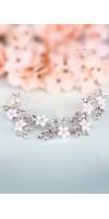 DEMETRA Crystal Flower Bridal Hair Piece