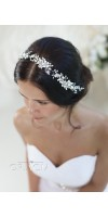 DORCIA White Silver Wedding Bridal Flower Crown