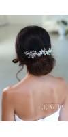 KHRYSEIS Bridal Hair Accessories Crystal Bridal headpiece Hair Vine With Flowers