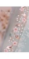 KORE Blush Rose Gold Bridal Flower Tiara Crown Flower Girl Headband