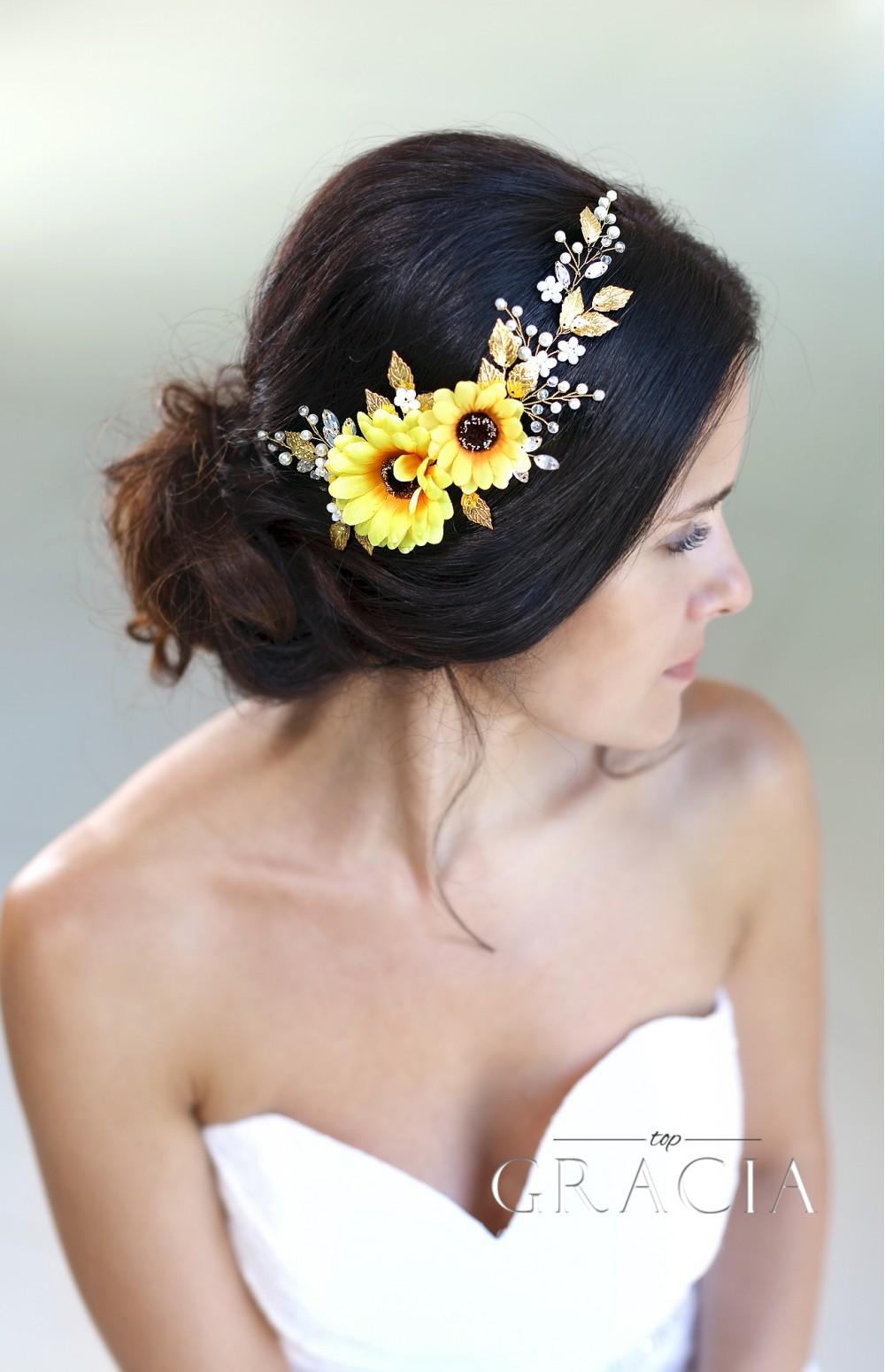 Hypatia yellow sunflower bridal headpiece fall wedding flower crown hypatia yellow sunflower bridal headpiece fall wedding flower crown autumn halo by topgracia mightylinksfo
