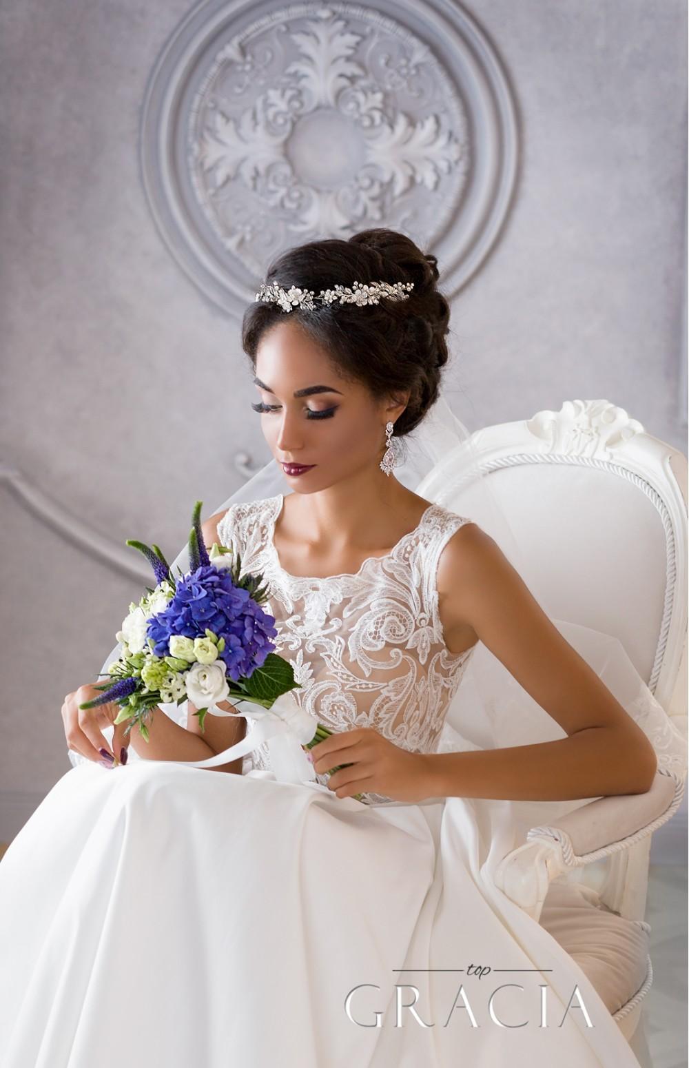 Dorcia White Silver Wedding Bridal Flower Crown By Topgracia