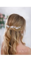 KALYPSO Flower Bridal Hair Pins With Crystals Rhinestone Wedding Headpiece
