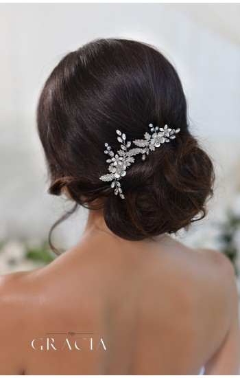 CHARA Flower Crystal Bridal Hair Pins
