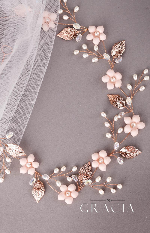 blush flower crown