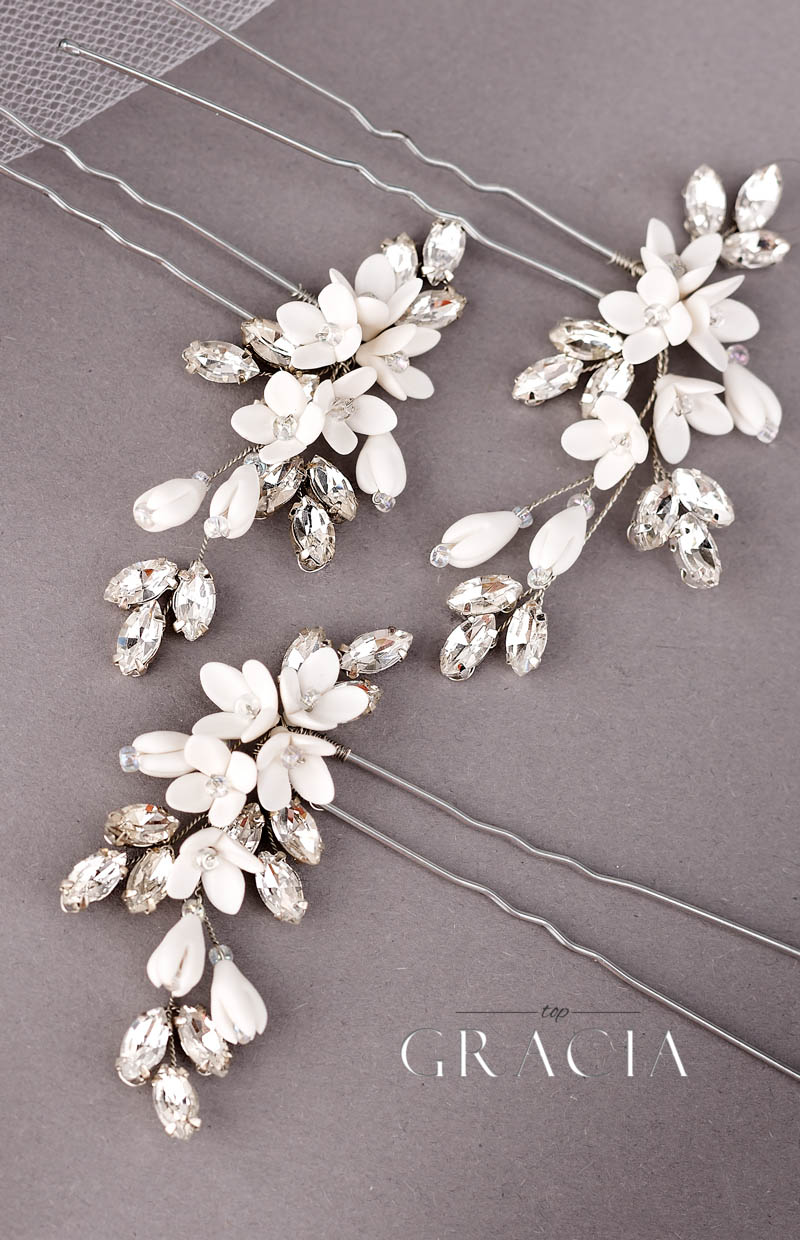 ivory flowerbridal hairpins