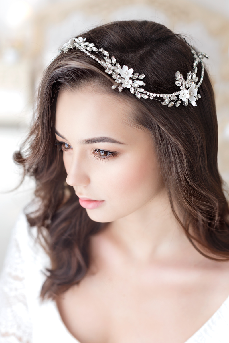 bridal crystal headpiece