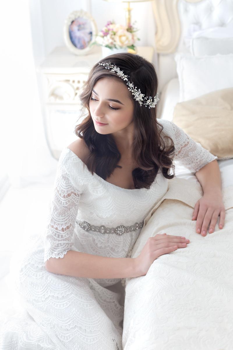 flower wedding hairpiece
