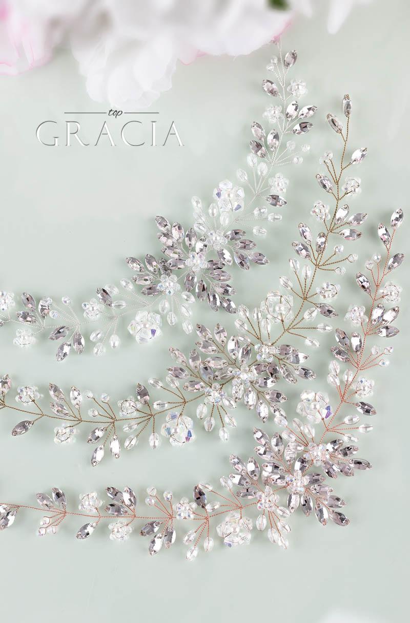 cristal wedding hair pieces