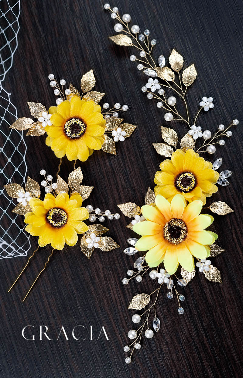sunflower_wedding_hairstyle_ideas_with_country_fall_accessories_pearl_flower_by_TopGracia